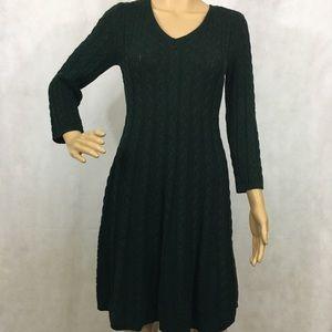 Dark Green Sweater Dress
